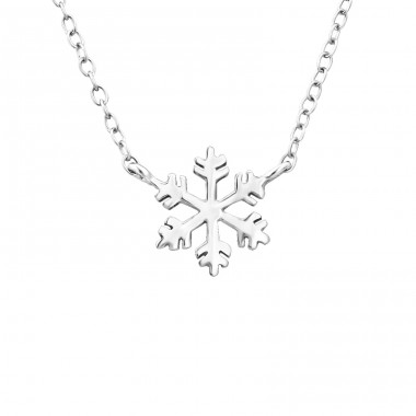 Snowflake - 925 Sterling Silver Necklace without stones A4S19390