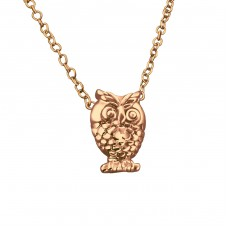 Owl - 925 Sterling Silver Necklace without stones A4S19586