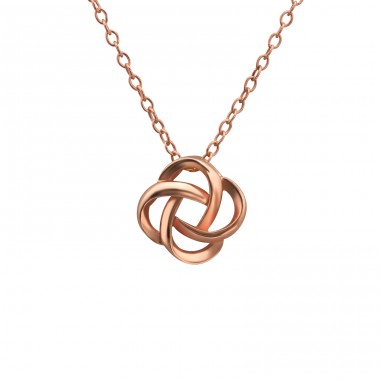 Knot - 925 Sterling Silver Necklace without stones A4S19911