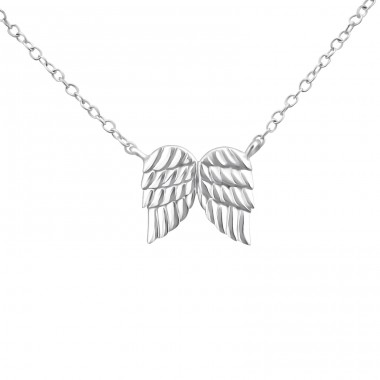Wing - 925 Sterling Silver Necklace without stones A4S20020