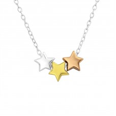 Stars - 925 Sterling Silver Necklace without stones A4S20100
