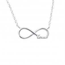 Love Infinity Inline - 925 Sterling Silver Necklace without stones A4S20700