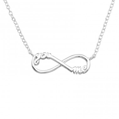 You And Me Infinity Inline - 925 Sterling Silver Necklace without stones A4S20701