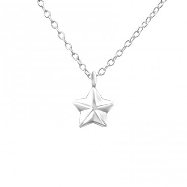 Star - 925 Sterling Silver Necklace without stones A4S21824