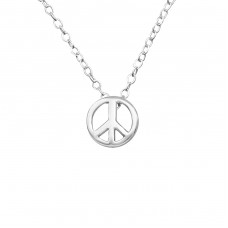 Peace - 925 Sterling Silver Necklace without stones A4S21826