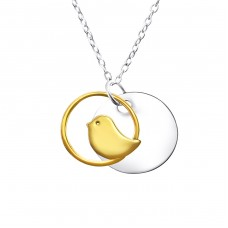 Bird - 925 Sterling Silver Necklace without stones A4S22721