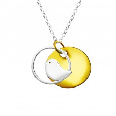 Bird - 925 Sterling Silver Necklace without stones A4S22825