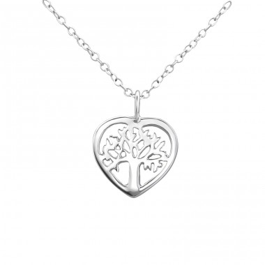 Tree Of Life - 925 Sterling Silver Necklace without stones A4S23025
