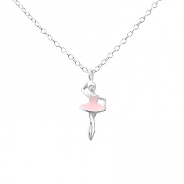 Ballerina - 925 Sterling Silver Necklace without stones A4S23120