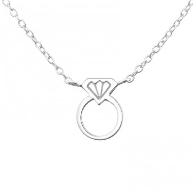 Ring - 925 Sterling Silver Necklace without stones A4S23185