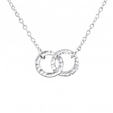 Round - 925 Sterling Silver Necklace without stones A4S23306