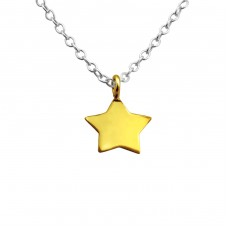 Star - 925 Sterling Silver Necklace without stones A4S23848