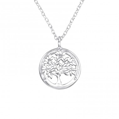 Tree Of Life - 925 Sterling Silver Necklace without stones A4S25030