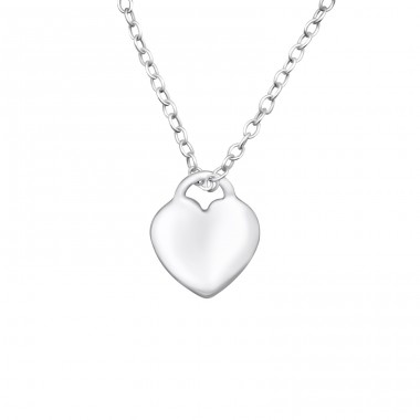 Heart - 925 Sterling Silver Necklace without stones A4S25041