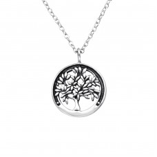 Tree Of Life - 925 Sterling Silver Necklace without stones A4S25321