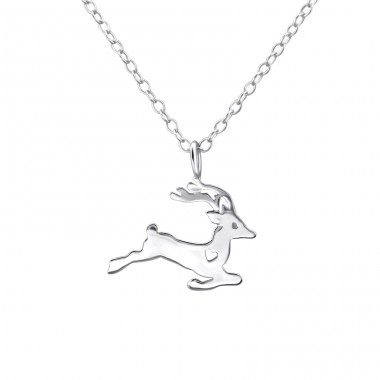 Reindeer - 925 Sterling Silver Necklace without stones A4S25733