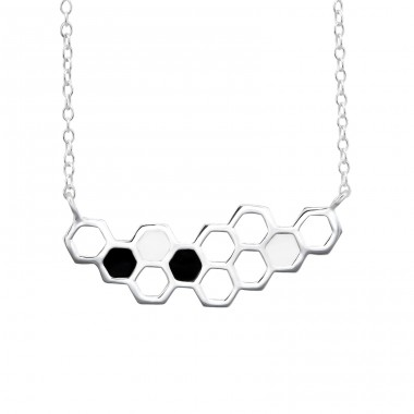 Beehive - 925 Sterling Silver Necklace without stones A4S25849