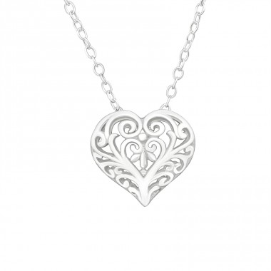 Heart - 925 Sterling Silver Necklace without stones A4S26246