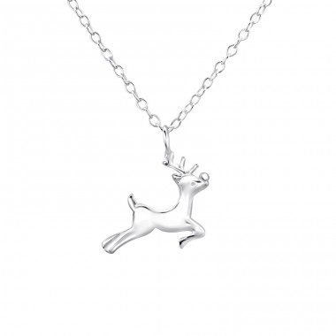 Reindeer - 925 Sterling Silver Necklace without stones A4S26254