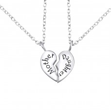 Mother And Daughter - 925 Sterling Silver Necklace without stones A4S26382