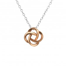 Knot - 925 Sterling Silver Necklace without stones A4S27810