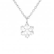 Snowflake - 925 Sterling Silver Necklace without stones A4S29888