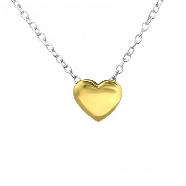 Heart - 925 Sterling Silver Necklace without stones A4S29907