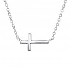 Cross - 925 Sterling Silver Necklace without stones A4S30227