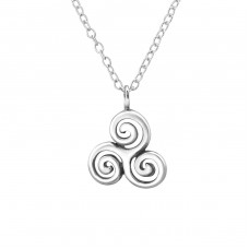 Celtic - 925 Sterling Silver Necklace without stones A4S30868