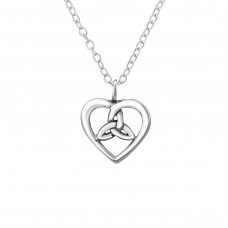 Celtic Heart - 925 Sterling Silver Necklace without stones A4S30869