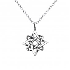 Vintage Star - 925 Sterling Silver Necklace without stones A4S30883