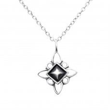 Antique Star - 925 Sterling Silver Necklace without stones A4S30885