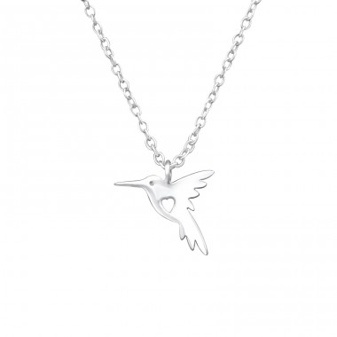 Hummingbird - 925 Sterling Silver Necklace without stones A4S32219