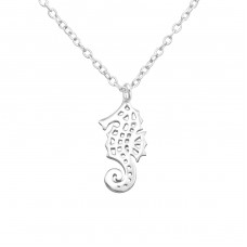 Seahorse - 925 Sterling Silver Necklace without stones A4S32220