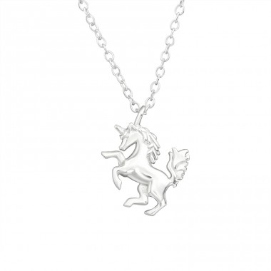 Unicorn - 925 Sterling Silver Necklace without stones A4S32222