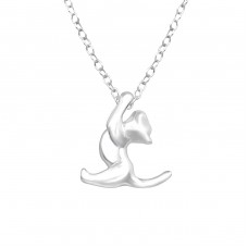 Cat - 925 Sterling Silver Necklace without stones A4S32228