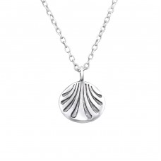 Shell - 925 Sterling Silver Necklace without stones A4S32247