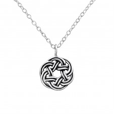 Celtic - 925 Sterling Silver Necklace without stones A4S32422