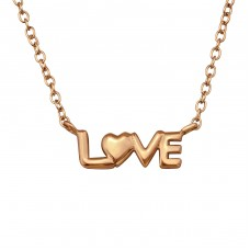 Love - 925 Sterling Silver Necklace without stones A4S32946