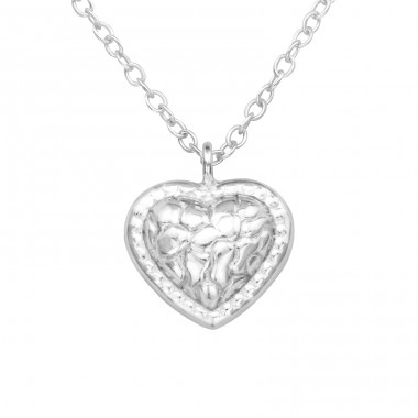 Heart - 925 Sterling Silver Necklace without stones A4S33276