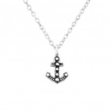Anchor - 925 Sterling Silver Necklace without stones A4S35134