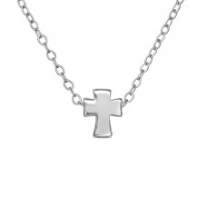 Cross - 925 Sterling Silver Necklace without stones A4S35659