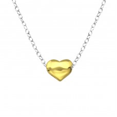 Heart - 925 Sterling Silver Necklace without stones A4S36048