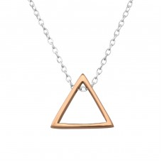 Triangle - 925 Sterling Silver Necklace without stones A4S36073