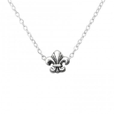 Fleur De Lis - 925 Sterling Silver Necklace without stones A4S36224