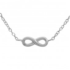 Infinity - 925 Sterling Silver Necklace without stones A4S36288
