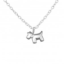 Dog - 925 Sterling Silver Necklace without stones A4S36296