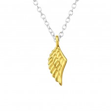 Wing - 925 Sterling Silver Necklace without stones A4S36302