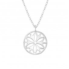 Flower - 925 Sterling Silver Necklace without stones A4S36306