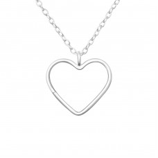 Heart - 925 Sterling Silver Necklace without stones A4S36437